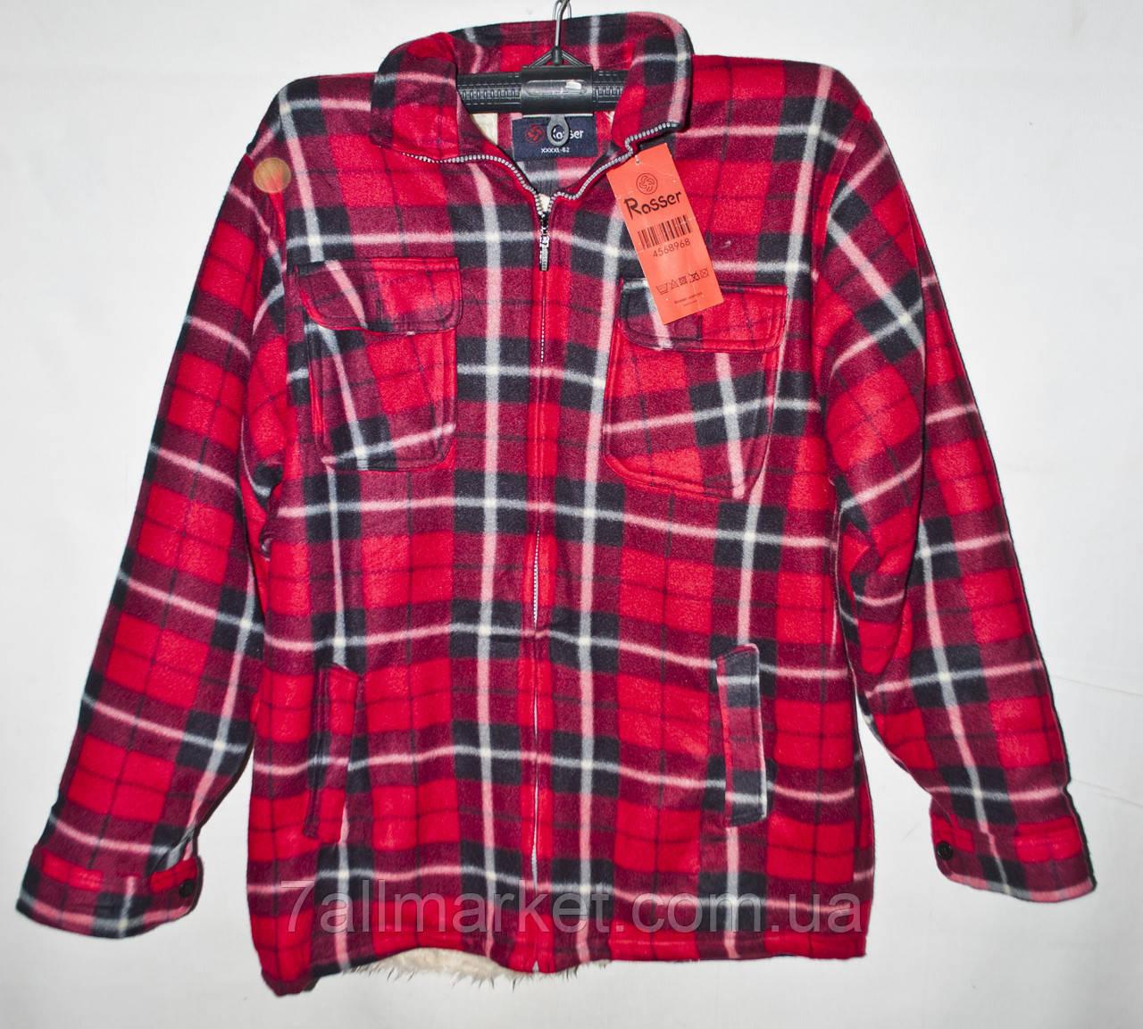 """Рубашка мужская в клетку байковая на меху размеры XL-5XL (2цвета) Серии """"GIFT"""" купить оптом в Одессе на 7 км"""