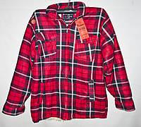 """Рубашка мужская в клетку байковая на меху размеры XL-5XL (2цвета) Серии """"GIFT"""" купить оптом в Одессе на 7 км, фото 1"""