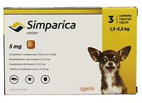 Zoetis Simparica (Симпарика) Таблетки от блох и клещей для собак 5 мг (1.3-2.5 кг)