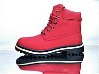 Зимові Черевики  Timberland Red Репліка