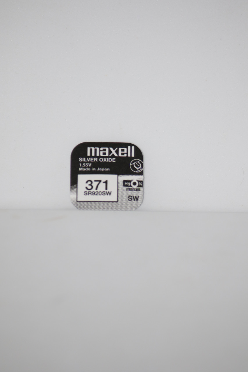 Батарейка для часов. Maxell SR920SW (371) 1.55V 39mAh 9,5x2.05mmСеребрянно-цинковая