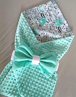Одеялко конверт ковдрачка летнее плюшевое