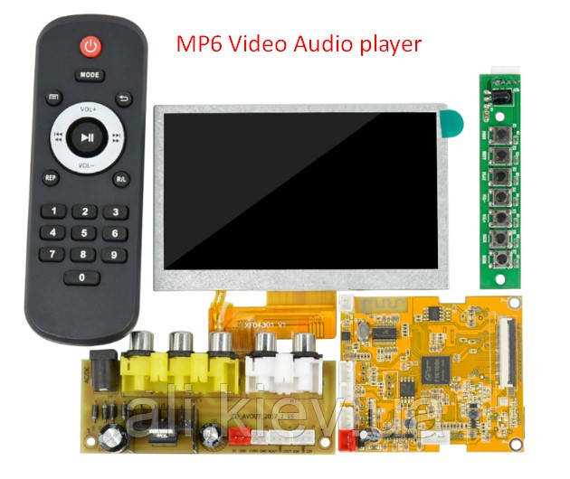 "Bluetooth 4.2 аудио видео плеер декодер 4.3"" ЖК-дисплей Touch Screen + Remote FM tuner USB SD TF card"