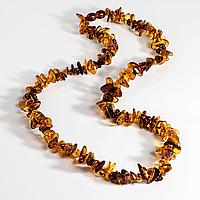 Бурштин самородки поліровані, намисто, 494БСЯ, фото 1