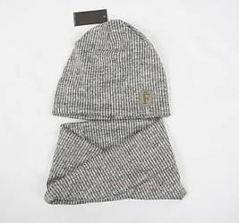 Трикотажный комплект Ангора рубчик серый