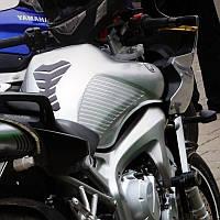 Наклейки на бак мотоцикла боковые полосы, прозрачные