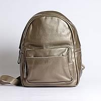 """Большой рюкзак из натуральной кожи бронзовый """"Агрус Bronze"""""""