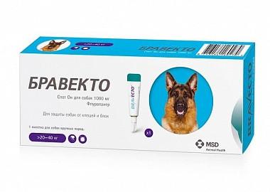 Бравекто SPOT-ON L - капли от блох и клещей для собак 20-40 кг