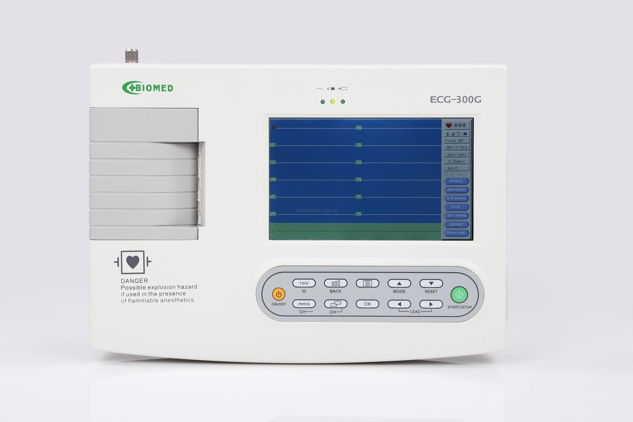 Електрокардіограф ECG300G LCD