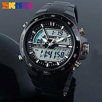 Skmei 1016  shark черные спортивные часы мужские, фото 1