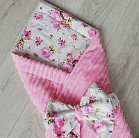 Детское одеяло конверт плюшевое осеннее, фото 1
