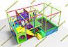 Детский игровой лабиринт с батутом для помещения new 2021