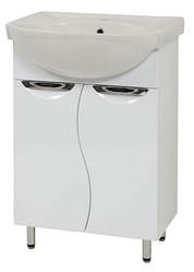 Тумба в ванную комнату Laura 60 XВ с раковиной Libra-60