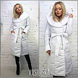 Женская стильная удлиненная куртка с поясом (4 цвета), фото 2