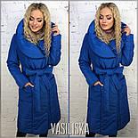 Женская стильная удлиненная куртка с поясом (4 цвета), фото 5