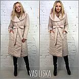 Женская стильная удлиненная куртка с поясом (4 цвета), фото 4