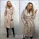 Женская стильная удлиненная куртка с поясом (4 цвета), фото 10