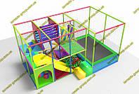 Детский игровой лабиринт с батутом для помещения NEW 1018, фото 1