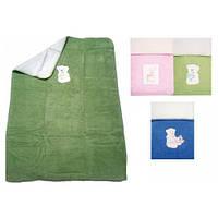 Детское одеяло - плед с вышивкой двухстороннее Womar 75 х 100 см  (хлопок 60%, акрил 40%)