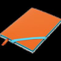 Блокнот деловой LOLLIPOP А5, 96л., чистый, обложка искуственная кожа, оранжевый