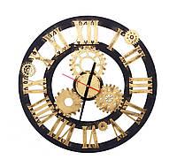 Деревянные настенные часы Стимпанк