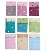 Одеяло - плед детское  двухстороннее в горошек Womar  75 x 100 cм 60*40