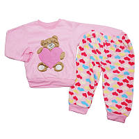 Пижама для девочки махровая 4,5,6 лет , арт.174