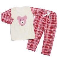 Пижама для девочки махровая 104-122(4-7 лет)  арт.38518