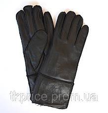Женские перчатки  на натуральном меху, фото 2