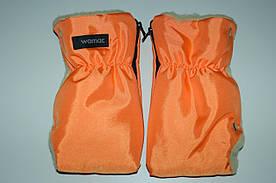 Перчатки - муфта (трансформер,змейка) на коляску и санки,  100% Шерсть Womar