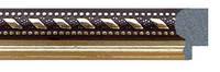 Фоторамка 21х30 см., коричневая с золотым орнаментом, багет 2115-39, фото 1