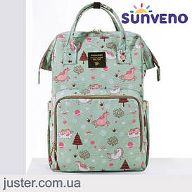 Рюкзак-сумка для мам Оригинал Sunveno Large. Умный органайзер. Стильный дизайн.