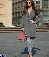 Женское стильное кашемировое пальто на пуговице мод.90, фото 1