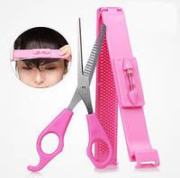 Набор парикмахера - уровень и ножницы для самостоятельной стрижки челки
