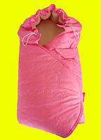 Конверт-одеяло на овчине розовый НОВИНКА