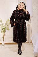Элегантная шуба бордо из искусственного меха под норку, длинная норковая шуба бордо с капюшоном, магазин шуб