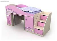 Кровать детская чердак + стол Pn 40-1