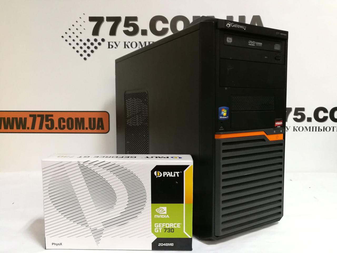 Игровой компьютер Gateway DT55, AMD Athlon II x2 3.2GHz, RAM 6ГБ, HDD 320ГБ,GF GT 730 2GB DDR5, гарантия 6 мес