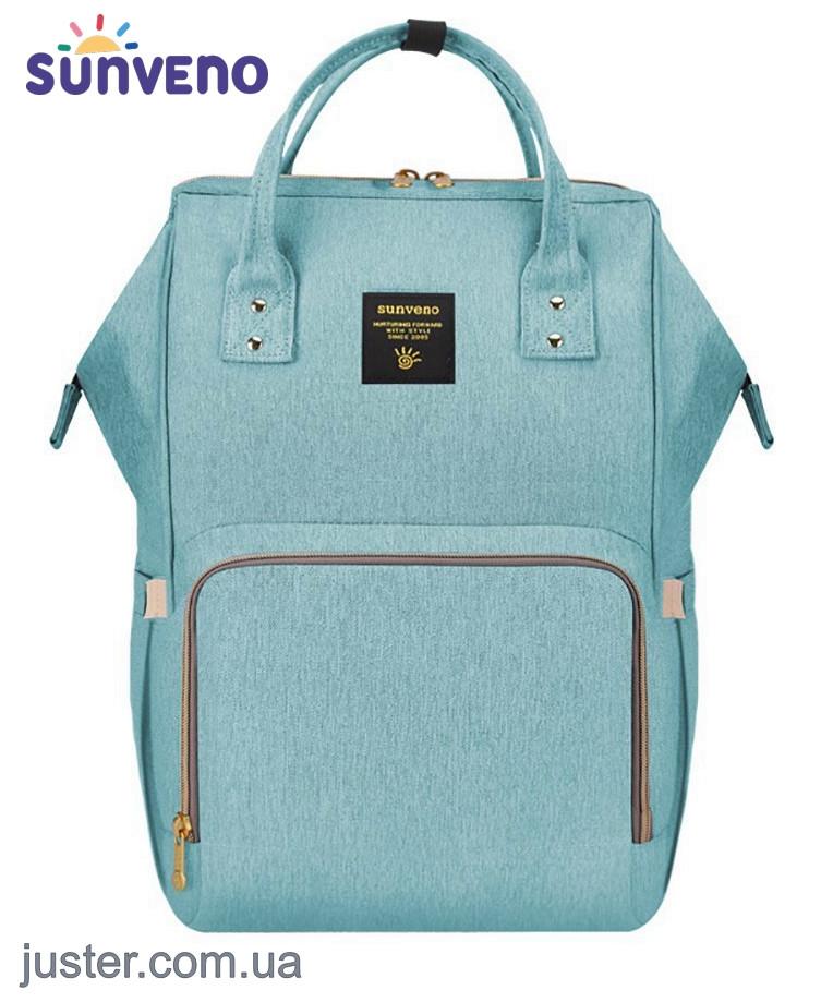 fadf2ec358c4 Рюкзак-сумка для мам Оригинал Sunveno Large. Умный органайзер. Стильный  дизайн. Бирюзовый