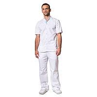 Медицинский костюм мужской Лондон белый-голубой ecd51e454b8af