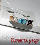 Комплект ЗАР-10 из серебра с золотыми накладками - Серьги и кольцо, фото 7
