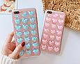 Чехол накладка силикон 3D CLEAR HEART iPhone 6 Plus/6s Plus - голубой, фото 2
