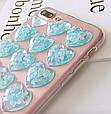 Чехол накладка силикон 3D CLEAR HEART iPhone 6 Plus/6s Plus - голубой, фото 3