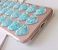 Чехол накладка силикон 3D CLEAR HEART iPhone 6 Plus/6s Plus - голубой, фото 4