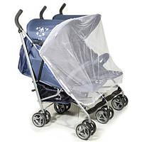 Москитная сетка на прогулочную коляску для двойни Marselle