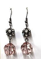 Серьги / розово-черные, фото 1
