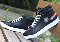 Теплые черные зимние кроссовки
