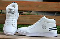 Теплые белые зимние кроссовки