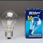 Лампа электрическая искра а55 230 в 60вт в коробке