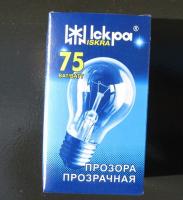 Лампа электрическая искра а55 230 в 75вт в коробке